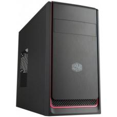 Obudowa komputerowa Cooler Master MasterBox E300L, czarna z czerwonym wykończeniem