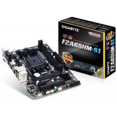 Gigabyte GA-F2A68HM-S1, Socket FM2+, A68H, DualDDR3-2133, SATA3, RAID, D-Sub, mATX