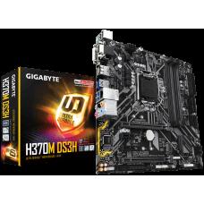 Gigabyte H370M DS3H, LGA1151, H310, DualDDR4-2666, SATA3, RAID, M.2, USB 3.1, D-Sub, DVI, HDMI, DisplayPort, USB-C, mATX