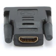 Adapter HDMI (F) => DVI (M) (18+1) Single Link, czarny