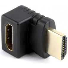 Adapter HDMI (M) => HDMI (F), kątowy 270 stopni, czarny