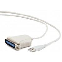 Adapter USB A (M) => LPT (M), biały