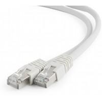 Patchcord SFTP 1.5m, kat. 6A, szary, powłoka LSZH, AWG 27