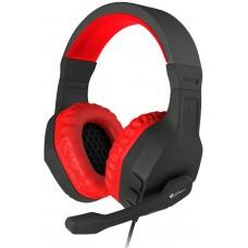 Słuchawki nauszne Genesis Argon 200 z mikrofonem, czerwone