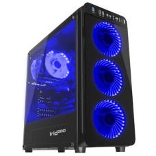 Obudowa komputerowa Genesis Irid 300 BLUE, czarna, okno